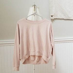 H&M basic blush pink sweatshirt